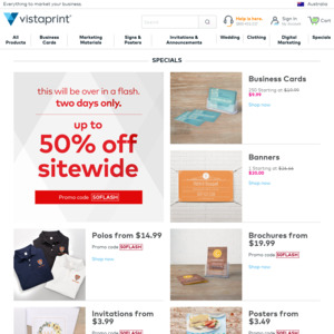 Up to 50% off Sitewide @ Vistaprint - OzBargain