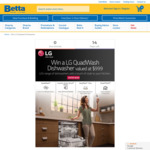 Win an LG 14 Place QuadWash Dishwasher Worth $999 from Betta