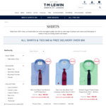TM Lewin Sale - Shirts or Ties $40, Free Delivery Over $50