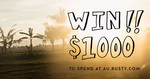 Win a $1,000 Gift Card from Rusty