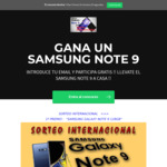Win a Samsung Galaxy Note 9 from Almacenbarato