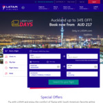 Sydney to Auckland Business Class from $624 Return on LATAM (Selected Nov Dates)