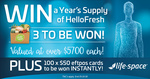 Win HelloFresh for a Year or Instantly Win 1 of 100 $50 EFTPOS Gift Cards [Purchase Any Life Space Product @ Chemist Warehouse]