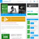 Xbox Live 12 Month Gold Membership (Xbox One/360/Global) $41.99 (AU $56.57) @ GamesDeal