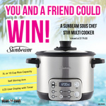 Win 1 of 2 Sunbeam Sous Chef Stir Multicookers Worth $179 from Stan Cash