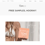 FREE TomCo ORGANIC Sanitary Product Samples