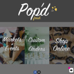 10% off Popcorn Orders + $4.95 Shipping @ Pop'd Fresh