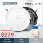 ECOVACS Deebot N79T Robotic Vacuum Cleaner $279.20 Delivered @ Ecovacs Australia Official Store via eBay