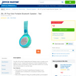 JBL JR Pop Kids Portable Waterproof Bluetooth Speaker $9 + Delivery (Free C&C) @ Joyce Mayne