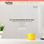 $40 Website Startup Package for New Business Start-Ups | Includes Free.Com.au Domain @ Uptime