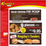 [ACT, NSW] 9 Pieces of Southern Fry Chicken for $9.95 - Tuesdays Only @ Kingsley's Chicken, ACT and Queanbeyan