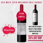 12 Bottles of Old Mate McLaren Vale Shiraz + Free Penfold Bin 389  $191.40 + Free Adelaide Metro Delivery @ WineNutt