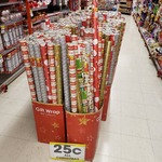 All Christmas Stock $0.25 Each @ The Reject Shop