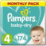 Pampers Baby-Dry Nappies Size 4 (9kg-14kg) - 174 Standard $51 ($43.35 S&S), 160 Pull Ups $63 ($53.55 S&S) Delivered @ Amazon AU