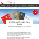 Qantas Double Status Credits on All QF Flights @ Qantas.com