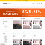 Sienna Sateen Queen Quilt Cover $69.99 (Was $199.99) | Royal Splendour Bath Towel $14.99 (Was $39.99) + Post @ Canningvale