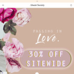 30% off Womens Fashion & Accessories + $8 Shipping (+ Free Returns, Gift Wrapping & Measuring Tape) @ Absent Society
