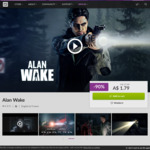 [PC] DRM-free/Epic/Steam - Alan Wake - GOG $1.79/Epic $2.15/Steam $2.15 and $2.89 for Collector's Ed. - GOG/Epic Store/Steam