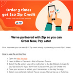 Earn $10 Zip Credit When You Link Zip to Hey You and Make 3 Orders By 26 Jun