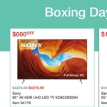 "Sony 85"" X9000H 4K UHD Bravia LED TV $4279.99 (RRP $4880) @ Costco Warehouse (Membership Required)"