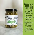 [NSW] Spend over $100 & Receive a Free 250g Jar of Westmont Pickle Jalapenos @ Hillview Farms