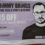 $15 off Jimmy Brings Order via App