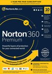 Norton 360 Premium 2021 Antivirus Software: 10 Devices, 1-Year with Auto Renewal (Keycard) US$56.04 Delivered @ Amazon US