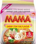 Mama Shrimp (Tom Yum) & Pork Flavour Instant Noodles Jumbo 5 Pack $3.50 @ Woolworths