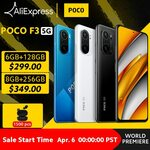 POCO F3 5G Snapdragon 870 120Hz AMOLED Display 6/128GB US$328.90, 8/256GB US$383.90 Delivered @ Poco Store AliExpress