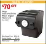 Philips Pasta and Noodle Maker HR2375/13 - $199.98 in-Store @ Costco (Membership Required)