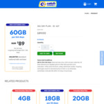 Catch Connect 365 Day Plan: 60GB for $89 (Was $120) with Unlimited Talk & Text + 3.5% Cashback