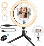 """T Tersely 10"""" LED Ring Light with Tripod Stand $15.99 + Delivery ($0 with Prime/ $39 Spend) @ Statco via Amazon"""