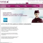 American Express Cardmembers: 10% Discount on Qatar Airways When Flying from Melbourne or Perth