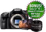 $869 Sony A65 SLT with Bonus TV Sony KDL-32R400A and 50mm F/1.8 Lens + Shipping @ Digital Camera Warehouse