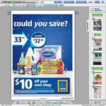 Aldi: $10 off Coupon with $100 Minimum Spend / Coupon in Todays Courier Mail (QLD)