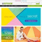 Crocs Australia Free Shipping on All Orders Including Clearance Items