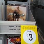 Call of Duty Modern Warfare 2 (PS3) $3 and NBA2K13 (Wii U) $8  Kmart Chatswood Chase NSW