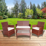 Parisi 4 Piece Wicker Outdoor Set $99 (Was $219) Delivered (Visa Checkout) @ OO
