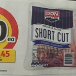 Don Rindless Shortcut Bacon $10 per 1kg Pack @ Coles (Save $6.45)