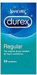 Ansell LifeStyles Condom Regular - 12 Pack $4.36, Durex Regular Condoms - 24 Pack $5.68, + Post @ Amcal