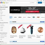 15% off 12 Selected Retailers (Bing Lee, Target, BCF, Myer, Mobileciti, Tarocash. Supercheap Auto + More) @ eBay