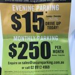 $250 Per Month Sydney CBD/Haymarket Parking (1 Dixon Street - Darling Harbour)