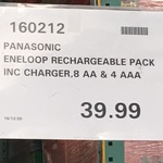 Eneloop 8xAA & 4AAA + Basic Charger $39.99, Rotisserie Chickens $3.98 @Costco (Requires Membership)