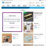 500 Business Cards for The Price of 250 (from $10) @ Vistaprint