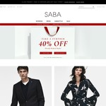 SABA Further 40% off Sale Items - Prices as Marked