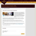 Etihad Airways: 10% off Selected Flights with AmEx