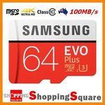 Samsung EVO+ 64GB (Class 10, U3) 100MB/s MicroSD Card $33.52 Delivered @ Shopping Square eBay
