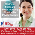 Free Dental Check-up OR $75 Exam, Scale and Polish Including Fluoride at Wyndham Vale VIC 3024