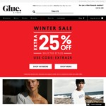 Extra 25% off Sale Items at Glue Store + Free Delivery on Orders > $75