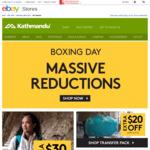 Kathmandu eBay Boxing Day Sale, 20% off Active Clothing, Transfer Packs $143.98 & Epiq Jackets $134.98